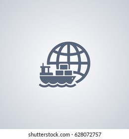 Marine logistics vector icon