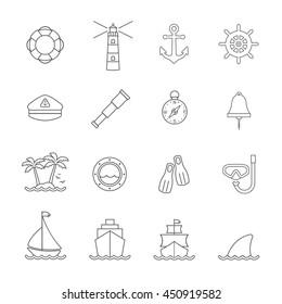Marine and nautical line icon