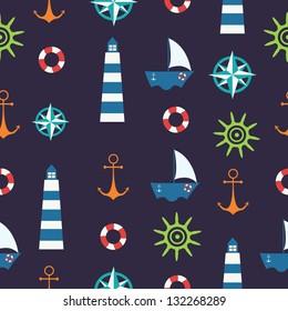 Marine seamless background