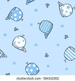 Marine seamless pattern/Cute Whales