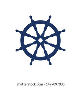 Marine Ship Steer Logo. Nautical Symbol. Icon Vector Eps 10.
