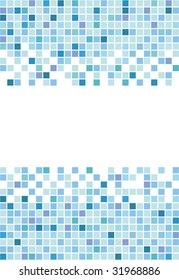 Marine square vector mosaic background
