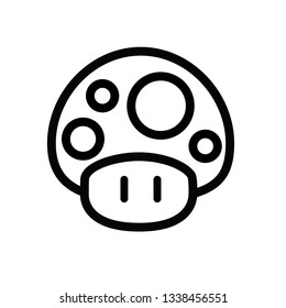 Mario mushroom pixel art printed on poster,  toy a fictional character in the Mario video game franchise