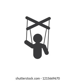 Marionette puppet vector icon