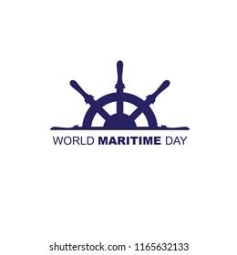 maritime day minimal logo concept