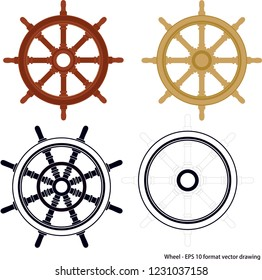 Maritime related object. EPS 10 format vector illustration. It can be used for various printing drawings and for decoration purposes.