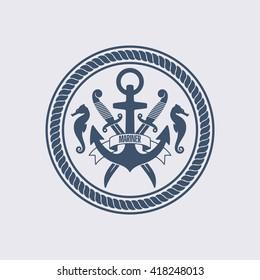 Maritime Symbol Vector illustration