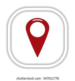 Mark icon, pointer. icon. vector design