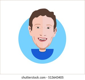 Mark Zuckerberg vector illustration