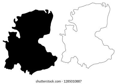 Markazi Province (Provinces of Iran, Islamic Republic of Iran, Persia) map vector illustration, scribble sketch Markazi map