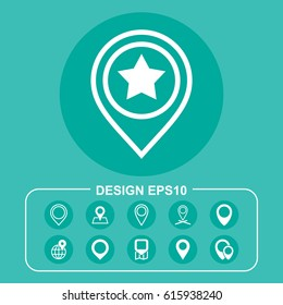 Marker Icon Vector flat design style