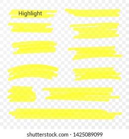 Marker lines. Vector highlighter brush lines. Hand drawing. Vector illustration.