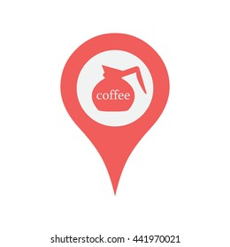 Map maker images stock photos vectors shutterstock marker location icon with coffee pot publicscrutiny Choice Image