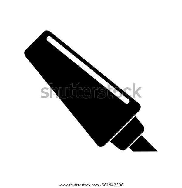 marker write school utensil pictogram