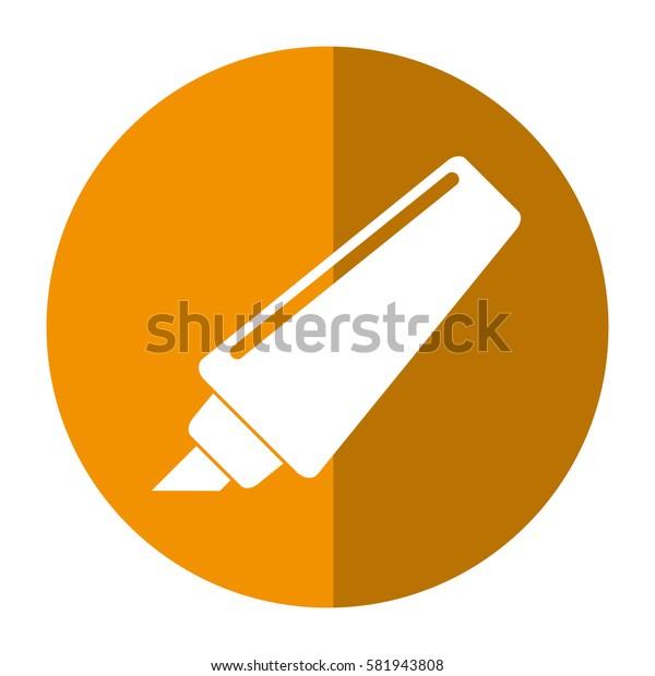 marker write school utensil shadow
