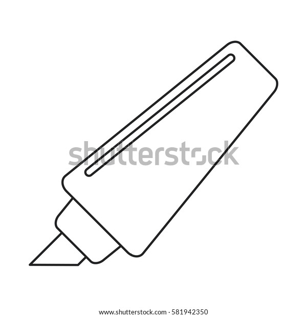 marker write school utensil thin line