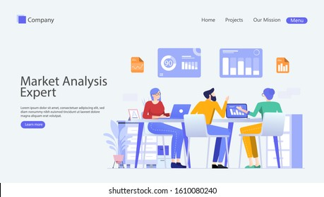 Market Analysis Expert Vector Illustration Concept , Suitable for web landing page, ui, mobile app, editorial design, flyer, banner, and other related occasion