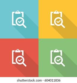 Market Analysis Flat Icon Concept
