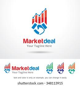 Market Deal Logo Template Design Vector