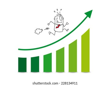 the market grows up. Joe is very happy. He runs on a diagram which illustrates the the good results of his company