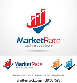 Market Rate Logo Template Design Vector