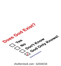 Market research asking does God exist questionnaire