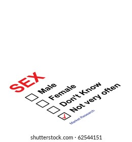Market research sex questionnaire with not very often ticked