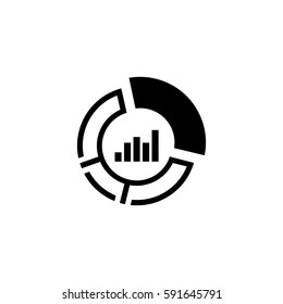 Market Share Icon. Business Concept. Flat Design. Isolated Illustration.