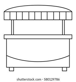 Market stand kiosk stall icon. Outline illustration of market stand kiosk stall vector icon for web