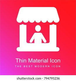 Market Store red and pink gradient material white icon minimal design