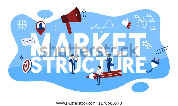 Market Structure Concept Different Market Characteristics Stock