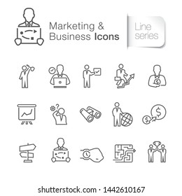 Marketing & business related icons. Training, investment, management, success.