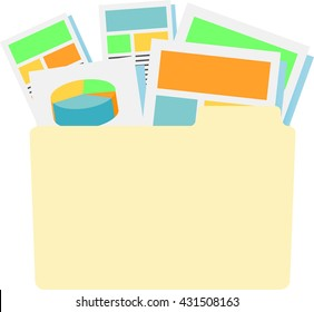 Marketing Company Digital Products Icons with Collateral and Packing Boxes