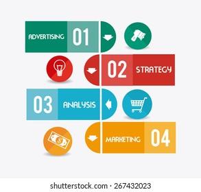 Marketing design over white background, vector illustration.