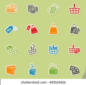 marketing and e-commerce icons for web and user interface