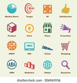 marketing elements, vector infographic icons