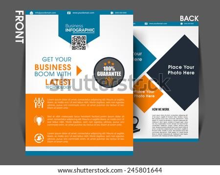 marketing flyer template eps10 brochure magazine cover