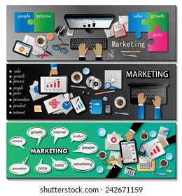 Marketing Flyer Template Set - Vector Illustration, Graphic Design, Editable For Your Design