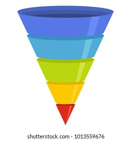 Marketing funnel sales  logo icon. Flat illustration of marketing funnel sales vector logo icon for web