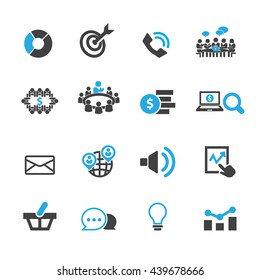 Marketing icon set, Vector