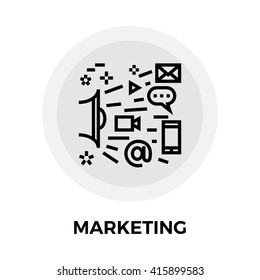 Marketing icon vector. Flat icon isolated on the white background. Editable EPS file. Vector illustration.