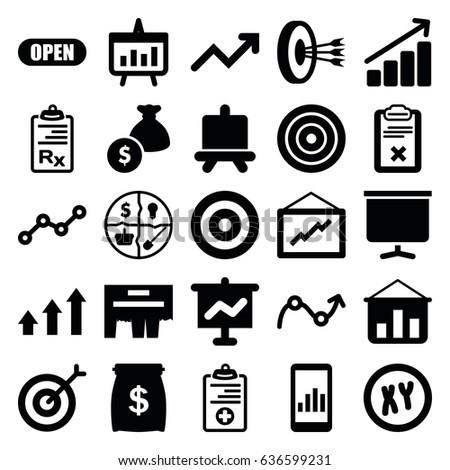 Marketing Icons Set Set 25 Marketing Stock Vector Royalty Free