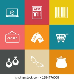Marketing icons set - vector shopping and sale icons - shopping illustrations collection