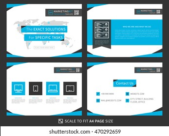 marketing kit presentation vector template modern stock vector