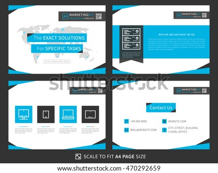 Marketing Presentation | Marketing Kit Presentation Vector Template Modern Stock Vektorgrafik