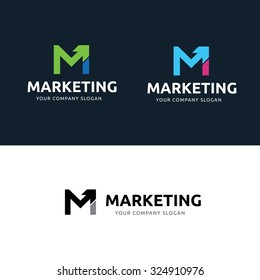 Marketing logo images stock photos vectors shutterstock marketing logom letter logovector logo template altavistaventures Choice Image