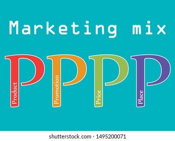 Marketing mix 4P vector illustration