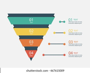Marketing Pyramid - Vector Infographic