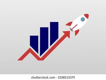 Marketing rocket logo