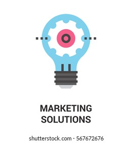 marketing solutions icon concept